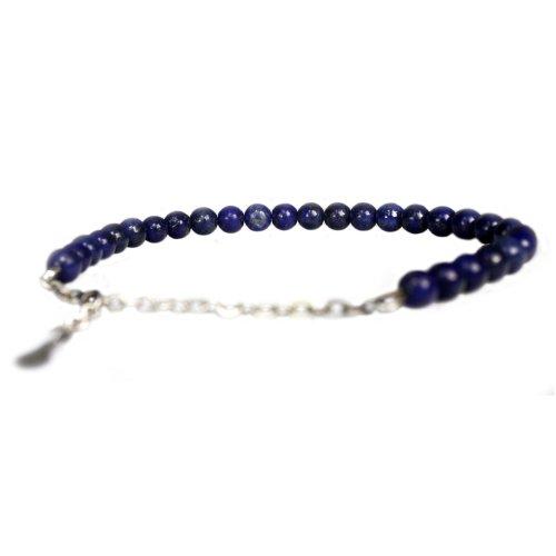 Heren enkelband Classic B8 – Lapis Lazuli – Sterling Zilver