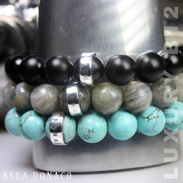 Armband Luxury B12 – matzwarte Onyx – Sterling Zilver