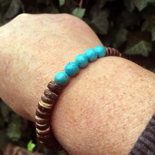 Armband Basic B8 – Turquoise – Kokos