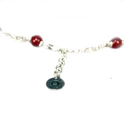 Ketting  Wrap Wire B6 – Rode Carneool – Sterling Zilver