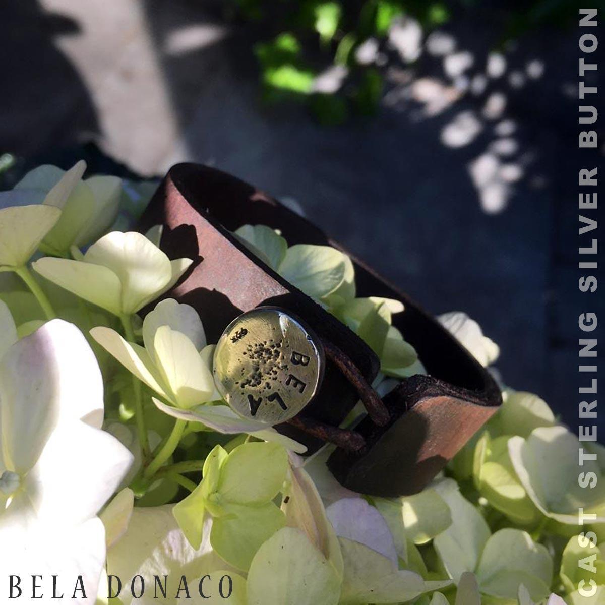 Heren armband Classic W20 – Gaucho vintage leder – Sterling zilver