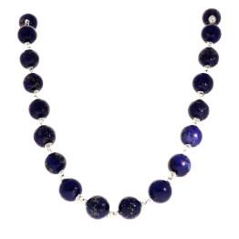 Ketting  Wrap Wire B12 – Lapis Lazuli – Sterling Zilver