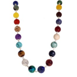 Ketting  Wrap Wire B12 – Multi Stone & color – Sterling Zilver