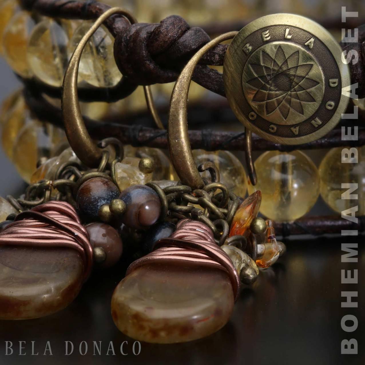 Bohemian armband en oorbellen
