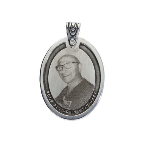 Custommade gedenk medallion Classic – Sterling Zilver