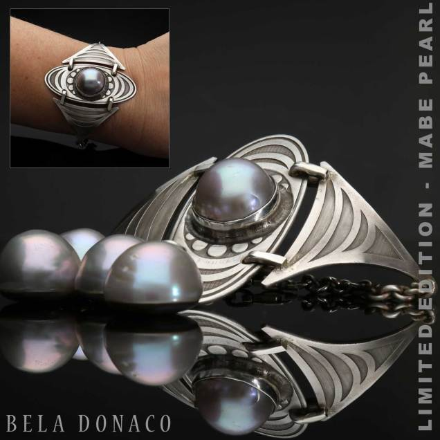 Armband Bohemian Limited Edition Mabe zoutwater parel Sterling Zilver