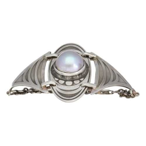 Armband – Bohemian Limited Edition – Mabe zoutwater parel – Sterling Zilver