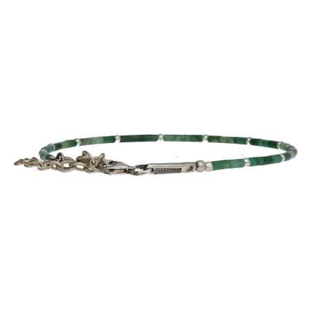 Enkelbandje Bohemian Afrikaanse Jade Sterling Zilver-1