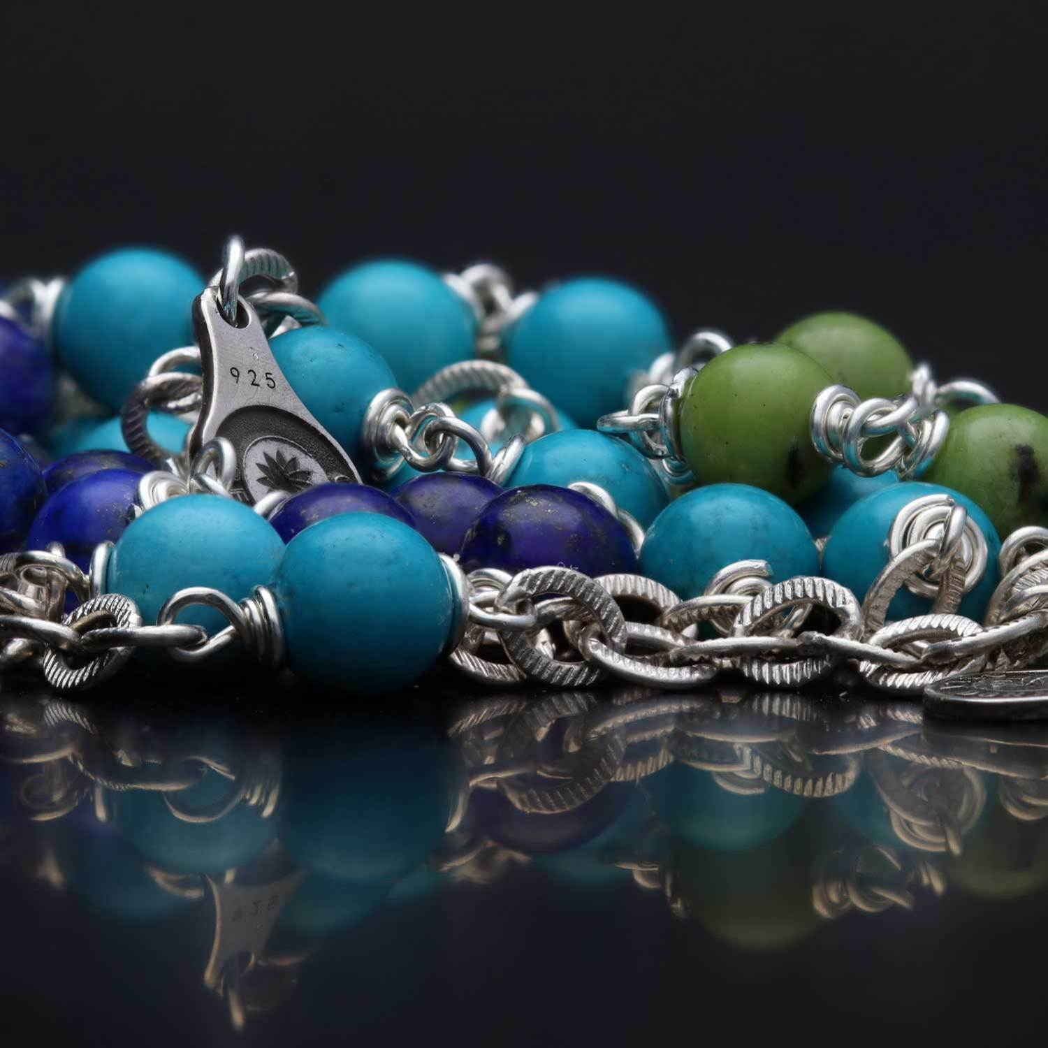 Armband Wrap Wire B6 Huei Turquoise Sterling Zilver-4