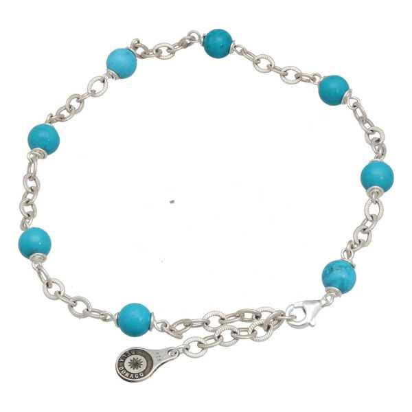 Enkelbandje Wrap Wire B6 Hubei Turquoise Sterling Zilver-5