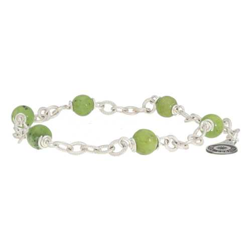 Armband Wrap Wire B6 – Canadese Jade – Sterling Zilver