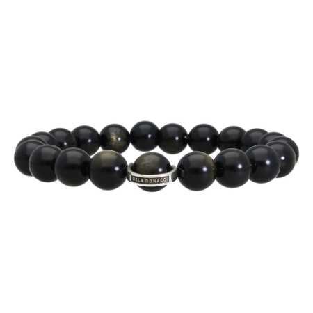 Armband Luxury B10 Gold sheen Obsidiaan Sterling Zilver-3