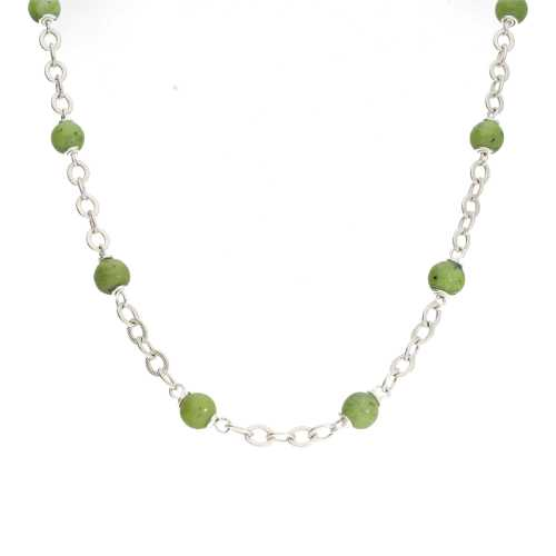 Ketting  Wrap Wire B6 – Canadese Jade – Sterling Zilver