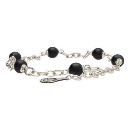 Armband Wrap Wire B6 mat Onyx Sterling Zilver-3