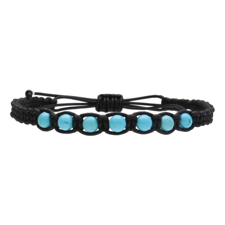 Enkelbandje Classsic B6 Turquoise - Zwart leder-5