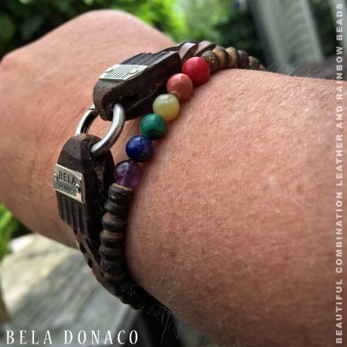 Armband Basic B6 – Rainbow – Kokos