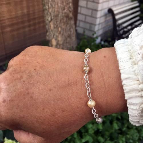 Armband Wrap Wire B6 – Vintage Parels – Sterling Zilver