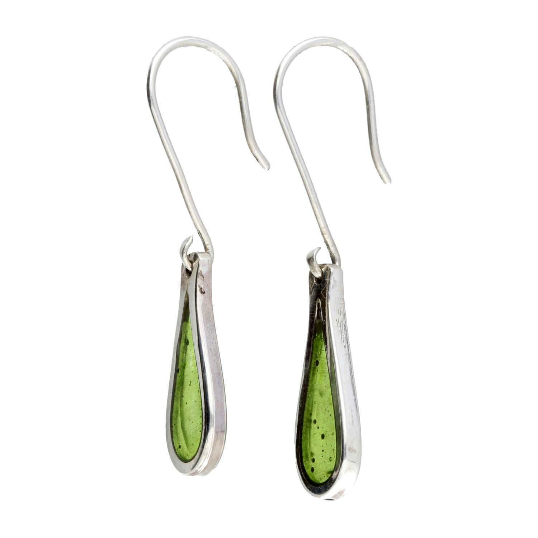 Oorbellen Resin design - Sterling Zilver - Lime green-2