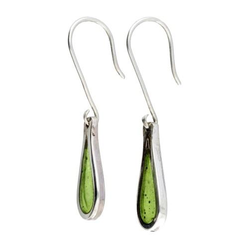 Oorbellen Resin art collection – Sterling Zilver – Lime green