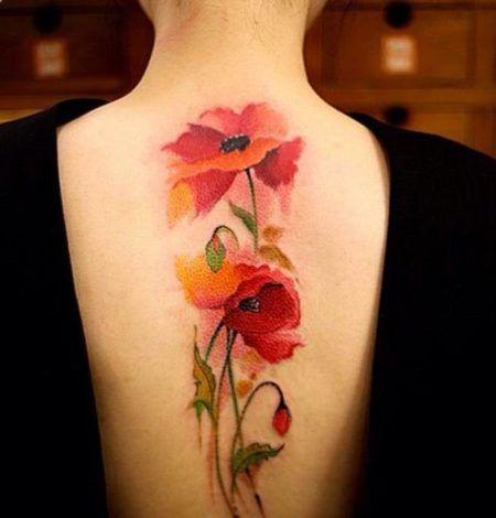 Tatuagens Femininas Nas Costas Ate A Coxa