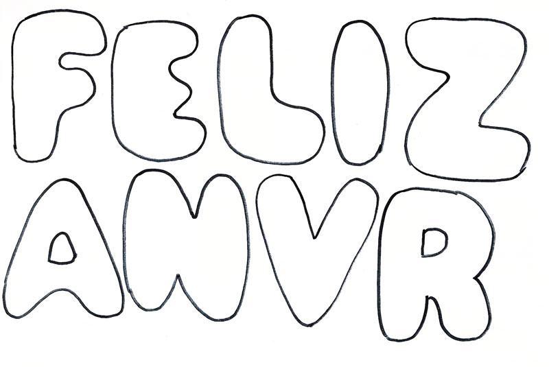 Moldes de letras em EVA para colorir, imprimir e