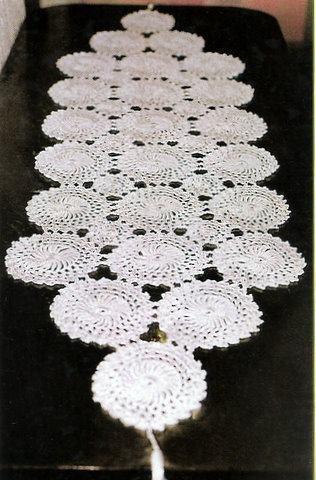 Trilho de mesa de croch para mulheres que gostam de