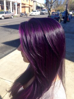 Beautiful Purple Hairstyle