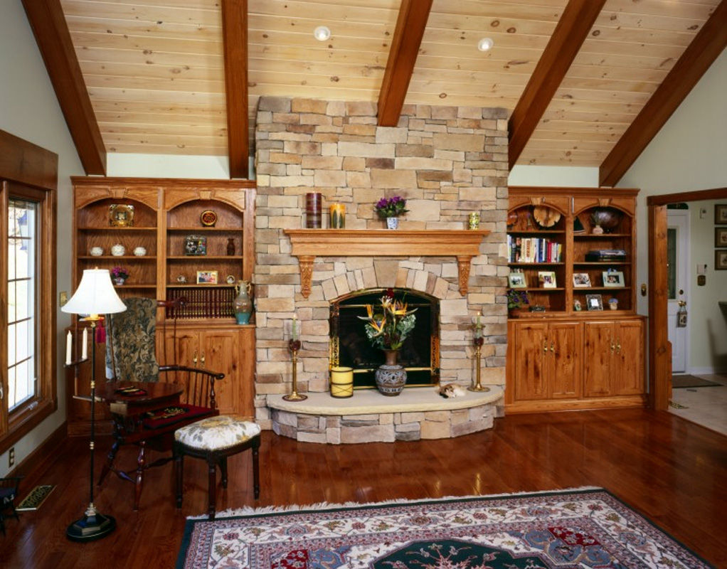 Rustic Lodge Family Room Addition  BelAir Construction  Maryland Baltimore Remodeling