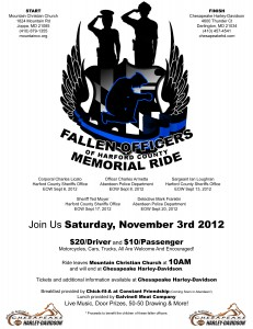 First annual Fallen Officers of Harford County Memorial
