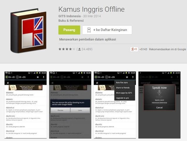 Kamus Inggris Offline Untuk Android