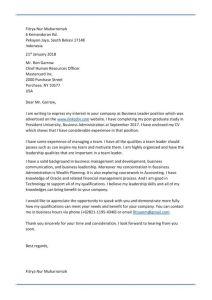 Contoh Surat Lamaran Kerja Bahasa Inggris untuk Fresh Graduate yang baik