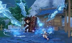 cara menyelesaikan misi mencairkan bongkahan es di game genshin impact