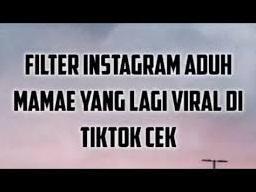 filter instagram adug mamae yang lagi viral di tiktok cek