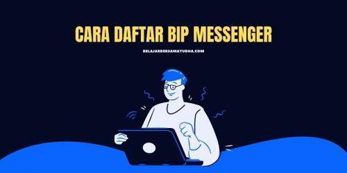 cara signup BiP messenger