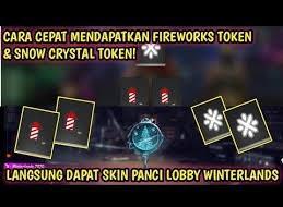 cara mendapatkan snow srystal token ff dan firework token free fire