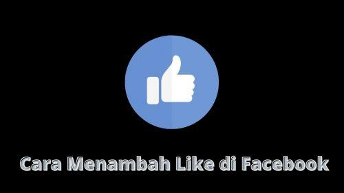 menambah like di facebook