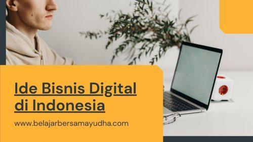 ide bisnis digital di indonesia
