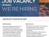 Lowongan pekerjaan Senior Software Developer - Paques (PT. Informatika Solusi Bisnis)