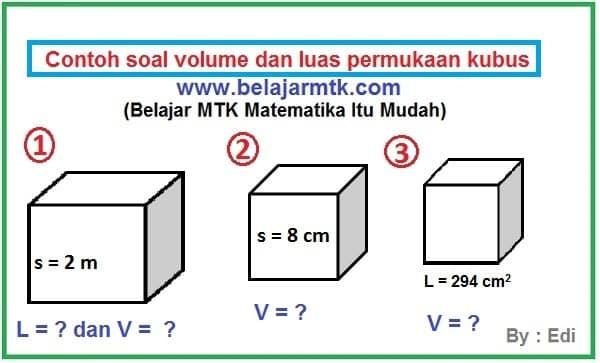 Rumus Volume Kubus Dan Luas Permukaan Kubus Lengkap Contoh Soalnya