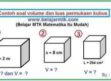 Contoh soal volume kubus