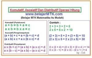 Sifat Komutatif, Asosiatif Dan Distributif Operasi Hitung