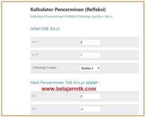 Kalkulator Pencerminan (Refleksi)