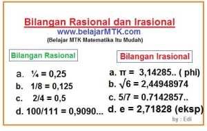 Bilangan Rasional dan Irasional