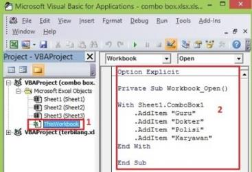 Code Combo Box ActiveX