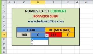 Rumus Excel Konversi Suhu