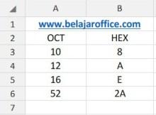 Rumus Excel OCT2HEX