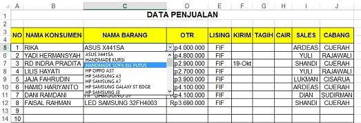 Download Data Penjualan Excel Solutionfasr
