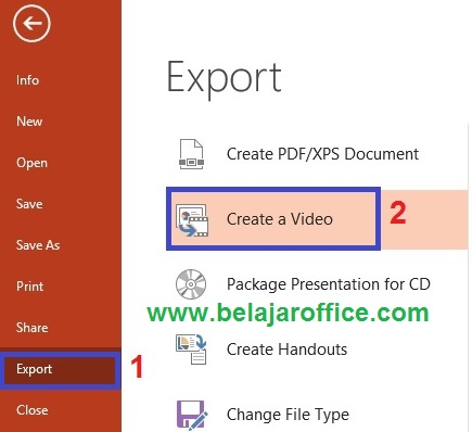export powerpoint pdf with video