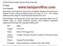 Contoh Surat Undangan Resmi Organisasi Pramuka