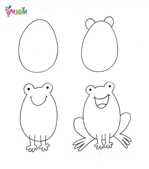 تعليم الرسم للاطفال بالخطوات رسومات اطفال بالعربي نتعلم